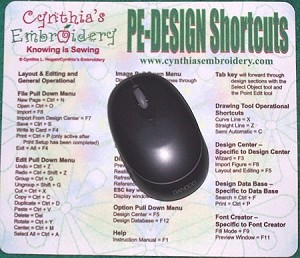 PE-DESIGN Shortcuts Mousepad